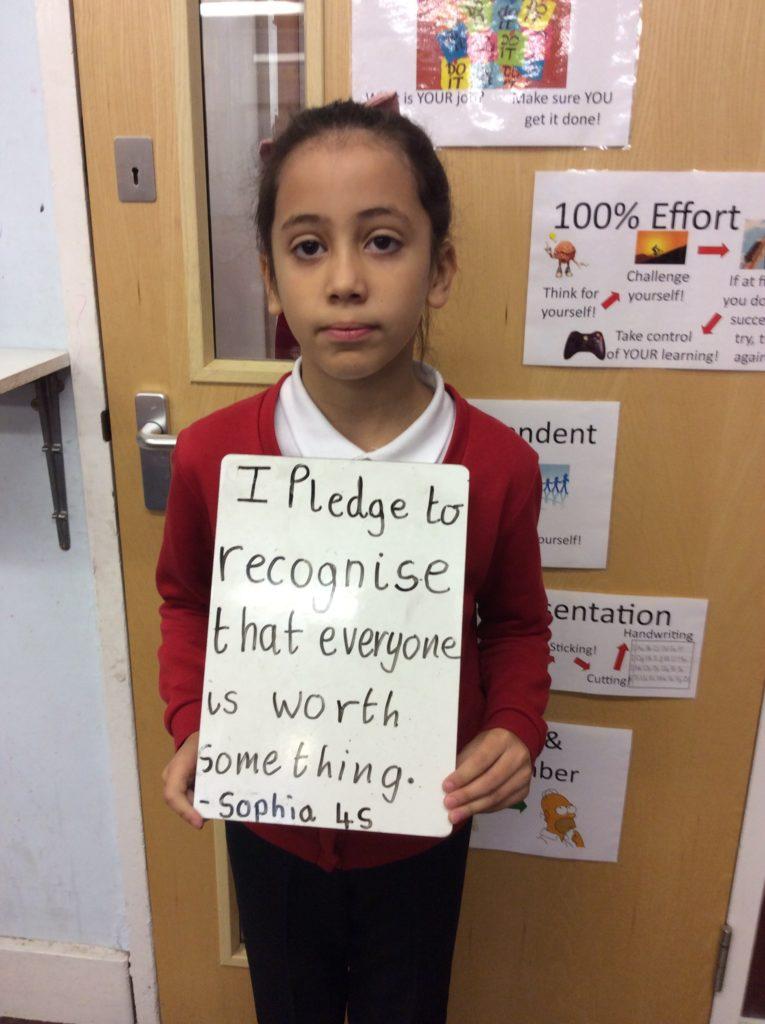 Hazelmere Junior School student's pledge to be kind
