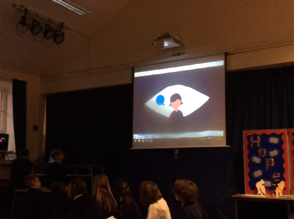 St Mary's Church of England School in Woodbridge cybebullying assembly