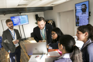 MPs look at the Digital Leaders platform with students