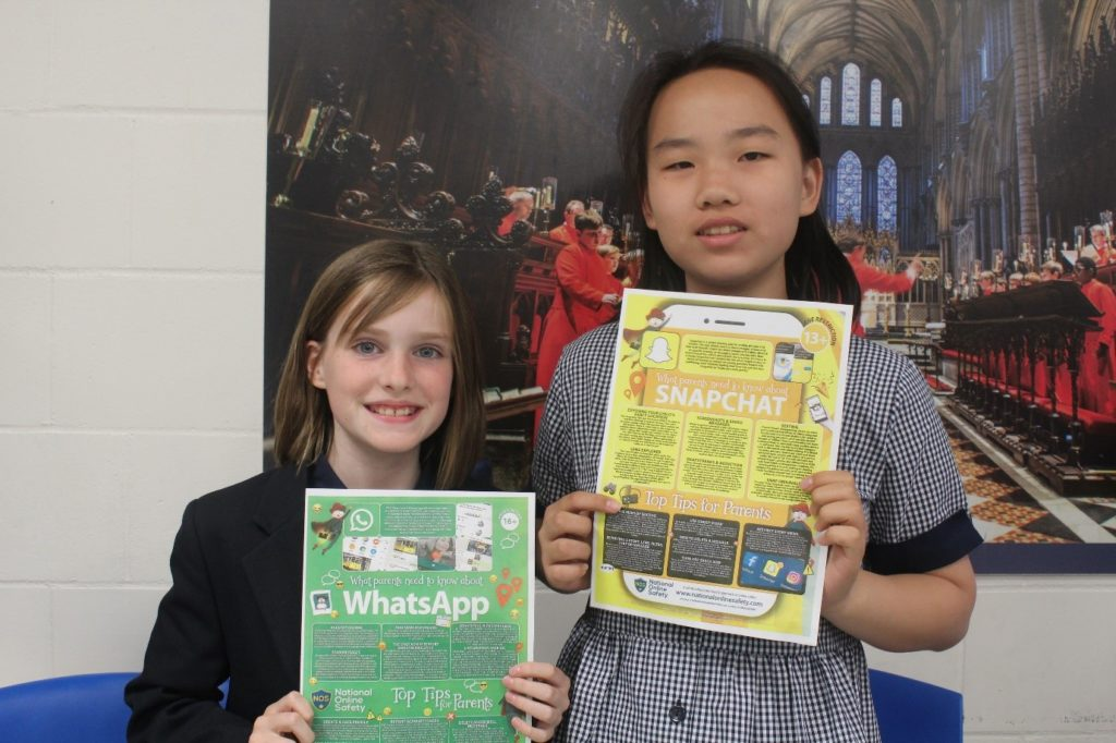 King's Ely Digital Leaders hold posters