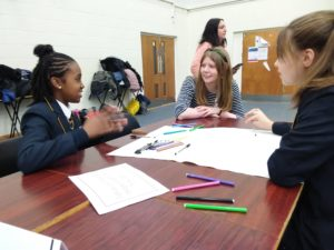 Amy from Childnet with students