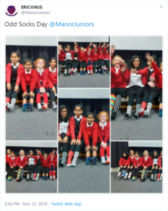 Manor Juniors Anti-Bullying Week tweet